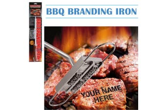Custom BBQ Branding Iron with Changeable Letters DIY lettering Customize Beef