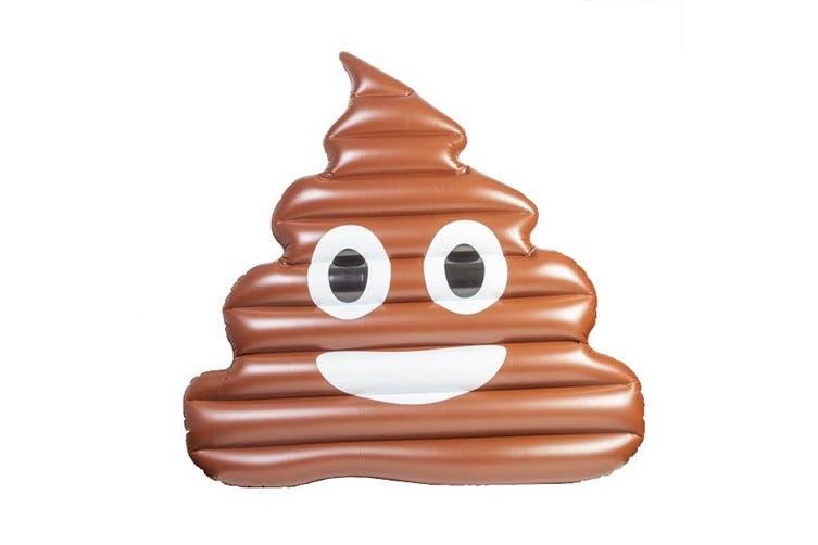 Emoji Poop Giant Pool Float - Smiling Poo Gigantic Swimming Inflatable Floatie