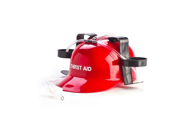 Drinking Hat Thirst Aid Red