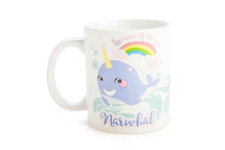 Narwhal Rainbow Fantasy Print Funny Novelty Coffee Tea Mug