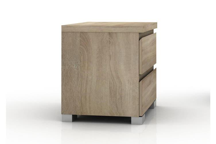 wooden Bedside Table with drawer retro Cabinet unit bedroom home furniture oak