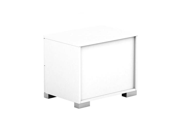 Tarin Wooden Bedside Table Chest Side Nightstand Storage Cabinet White 2 Drawer