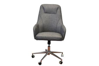 Fabric Executive Office Chair Charcoal Gas Lift  Great Student For Computer Desk