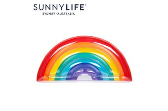 SUNNYLIFE Luxe Lie-On Float Rainbow Giant Slice Blow Up Pool Floatie