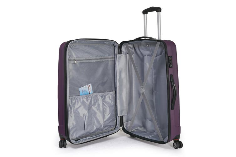2pc Luggage Suitcase Trolley Set TSA Travel Carry On Bag Hard Case