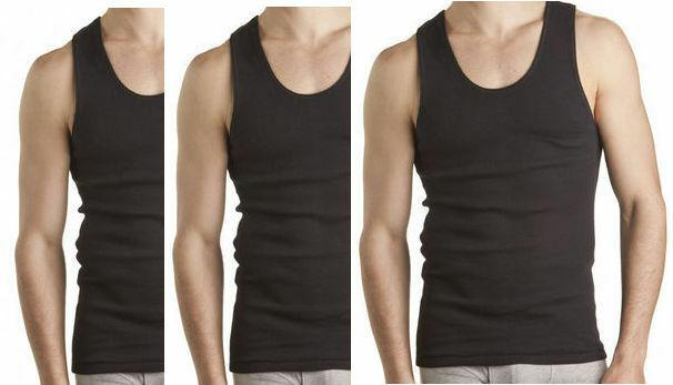 Bonds 3 Pack White Navy Black Chesty Cotton Singlets Underwear Mens Singlet