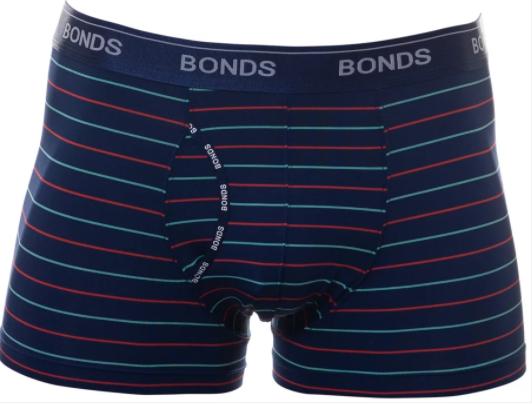 Bonds Mens 41S Gotta Be Logo Inverse Stripe GuyFront Trunk Brief Size M New
