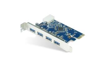 Astrotek 4 Ports USB 3.0 Hub PCIe PCI Express Add-on Card Adapter 5Gbps - AT-U3PCICARD