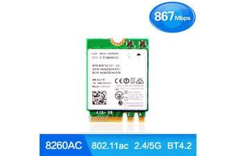 Intel 8260 AC Dual Band M.2 Wireless 2.4/5GHz BT Bluetooth Wifi Card - 8260NGW