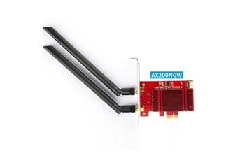 Intel AX200 WiFi 6 Dual Band PCIE Desktop Wireless Card with Heat Sink WXTUP - AX200NGW