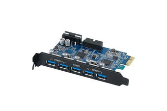 Orico Booster USB 3.0 5 Port + USB3.0 20PIN PCI-Express Card Internal - PVU3-5O2I
