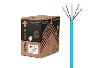 Alogic 305m Blue 23AWG PVC Solid CAT6 Network Cable Unshielded Twisted Pair UTP - C6-305-SL/PVBLU