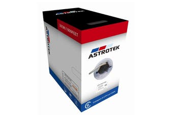 Astrotek 305m CAT6 FTP Cable Roll Blue Full 0.55mm Copper Solid Wire Ethernet LAN - ATP-BLUF6-305M