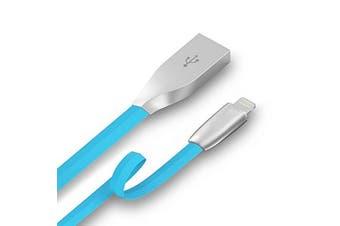 NewBee 1m Blue Apple Premium Zinc Alloy USB Lightning Charging Cable iPhone iPad - NB-APP-Z01-BL