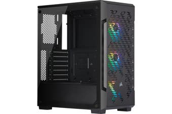 Corsair iCUE 220T RGB Airflow Tempered Glass Mid-Tower Smart PC Case Black - CC-9011173-WW