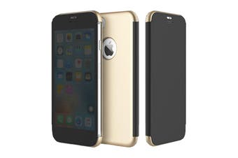 Rock iPhone 7/7 Plus Dr.Vision Clear View Smart Case Flip Cover Protective Case [Gold,Iphone 7] - DRV-I7-BK