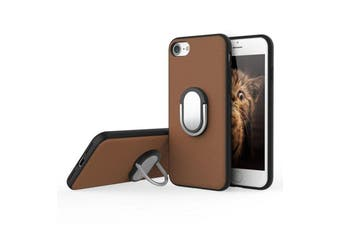 Rock Genuine Kickstand Magnetic Suction Ring Holder Case M1 For iPhone 7/7 Plus[Brown,IPHONE 7] - RHC-M1-I7P-BL