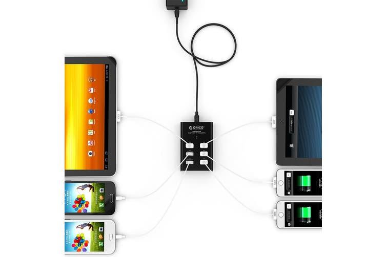 Orico -BK Black 6 Port Powered 5v USB Charging Station for Mobile Tablet - DUB-6P