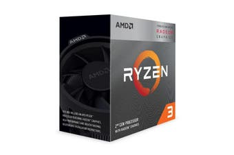 AMD Ryzen 3 3200G 4 Core AM4 CPU 3.6GHz 4MB 65W with Wraith Stealth Cooler Fan - YD3200C5FHBOX