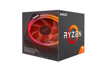 AMD Ryzen 7 3700X, 8 Core AM4 CPU, 3.6GHz 4MB 65W with Wraith Prism Cooler Fan - 100-100000071BOX
