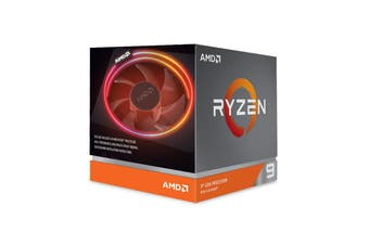 AMD Ryzen 9 3900X, 12 Core AM4 CPU, 3.8GHz 4MB 105W with Wraith Prism Cooler Fan - 100-100000023BOX