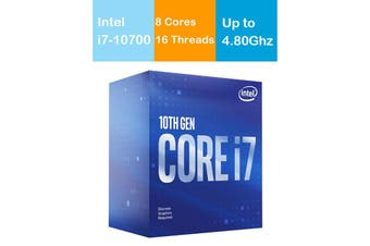 Intel Core i7 10700 CPU 2.9GHz/4.8GHz Turbo LGA1200 10th Gen 8 Cores 16 Threads - BX8070110700