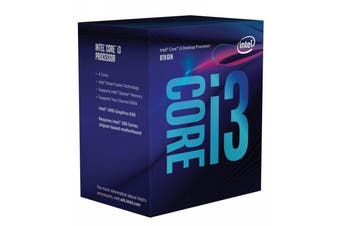 Intel Core i3 8100 Processor 6MB Cache 3.60 GHz LGA1151 Quad Core Desktop PC CPU - BX80684I38100