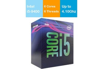 Intel Core i5 9400 CPU 2.9GHz/4.1GHz Turbo LGA1151 9th Gen 6 Cores 6 Threads - BX80684I59400