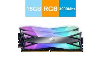 Adata XPG 16GB (2x8GB) 3200MHz DDR4 SPECTRIX D60G RGB Lighting Desktop Memory - AX4U320038G16A-DT60