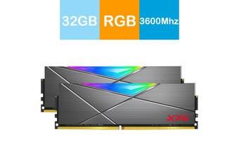 Adata XPG 32GB (2x16GB) 3600MHz DDR4 SPECTRIX D50 RGB Lighting Desktop Memory - AX4U3600316G18A-DT50