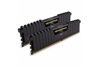 Corsair 16GB (2x8GB) DDR4 3000MHz Vengeance LPX Black Memory RAM PC - CMK16GX4M2B3000C15