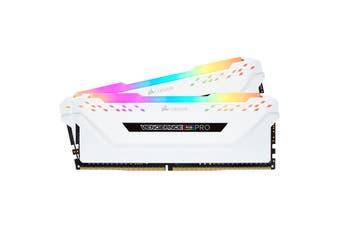 Corsair Vengeance RGB PRO 32GB 2x 16GB DDR4 3200MHz C16 Desktop Gaming Memory White - CMW32GX4M2C3200C16W
