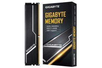 Gigabyte 8GB (1x8GB) Gaming Memory DDR4 2666MHz C16 1.2V XMP 2.0 PC Desktop RAM - GP-GR26C16S8K1HU408