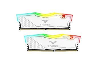 Team Delta 16GB (2x8GB) 3200MHz White RGB DDR4 PC RAM Gaming Desktop Memory - TF4D416G3200HC16CDC01
