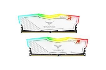Team Delta 32GB (2x16GB) 3000MHz White RGB DDR4 PC RAM Gaming Desktop Memory - TF4D432G3000HC16CDC01