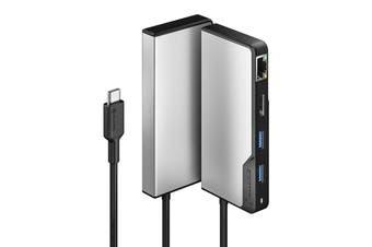 Alogic USB-C Hub Fusion Alpha 5-in-1 HDMI/USB-A/Gigabit Ethernet/USB-C Data & PD - UCFUPRGE-SGR