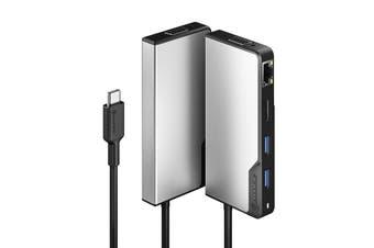 Alogic USB-C Hub Fusion Max 6-in-1 HDMI/VGA/USB-A/Gigabit Ethernet/USB-C & PD - UCFUPRGV-SGR