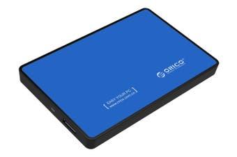 "Orico USB 3.0 External 2.5"" SATA SSD HDD Hard Disc Drive Enclosure Case Blue - 2588US3-V1-BL"