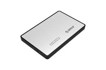 "Orico USB 3.0 External 2.5"" SATA SSD HDD Hard Disc Drive Enclosure Silver - 2588US3-V1-SV"