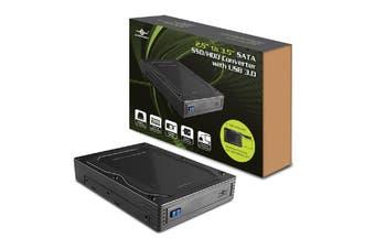 """Vantec 2.5"""" to 3.5"""" SATA SSD/HDD Converter Enclosure USB3.0 - MRK-235ST-U3"""