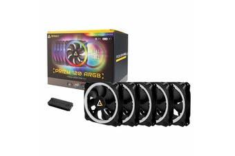 Antec 120mm 5 in 1 Pack RGB Dual Ring PWM Fans w/ Controller - Prizm 120 ARGB 5+C