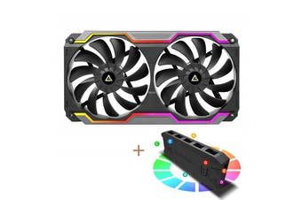 Antec ARGB Single Bracket Dual Fan with 2x 120mm PWM Fans - Prizm Cooling Matrix