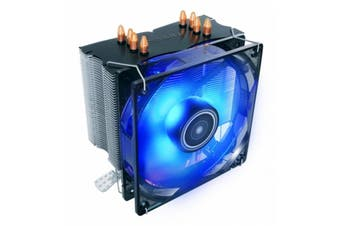 Antec Air CPU Cooler 120 mm Blue LED Fan with PWM for Intel AMD CPU - C400