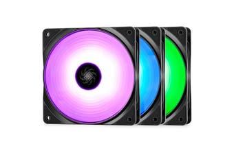 DeepCool RF120 120mm 3 In 1 Customisable RGB LED Fans 1500 RPM Triple Pack - DP-FRGB-RF120-3C