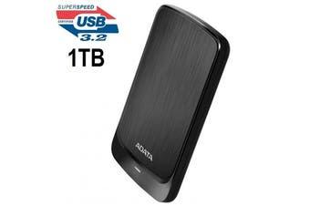 Adata HV320 1TB Slim External Hard Drive HDD Shock Protection USB 3.2 Gen1 Black - AHV320-1TU31-CBK