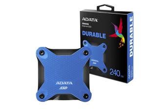 Adata 240GB Ultra-Speed External Solid State Drive Shock Resistance USB3.1 Blue - ASD600Q-240GU31-CBL