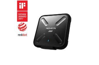 Adata SD700 256GB Rugged Water/Dust/Shock Proof External SSD 3D NAND Black - ASD700-256GU31-CBK