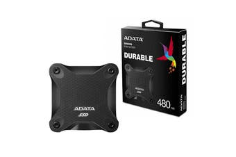 Adata 480GB Ultra-Speed External Solid State Drive Shock Resistance USB3.1 Black - ASD600Q-480GU31-CBK