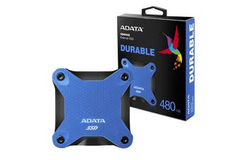 Adata 480GB Ultra-Speed External Solid State Drive Shock Resistance USB3.1 Blue - ASD600Q-480GU31-CBL