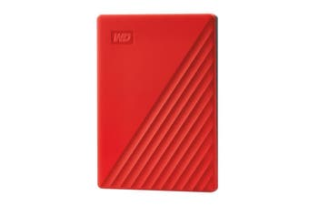 Western Digital WD 4TB Red USB3.2 My Passport Portable External Hard Drive - WDBPKJ0040BRD-WESN